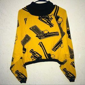 Betsey Johnson VINTAGE punk GUNSHOW sweater